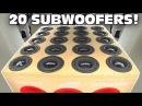 BIGGEST 6 5 Subwoofer Setup EVER 20 SUNDOWN Subs w Sound System DEMO 2 12 Ported Subwoofers
