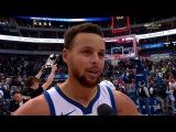 Stephen Curry Postgame Interview / GS Warriors vs Mavericks
