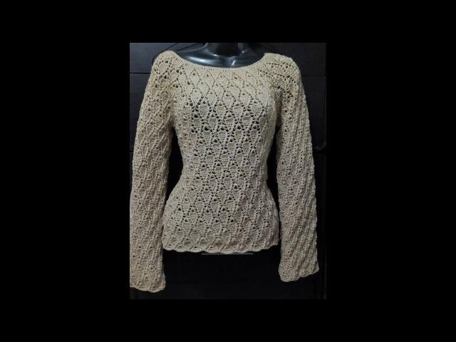 Tutorial Blusa Hojitas 1ra Parte Crocheteando con la Comadre