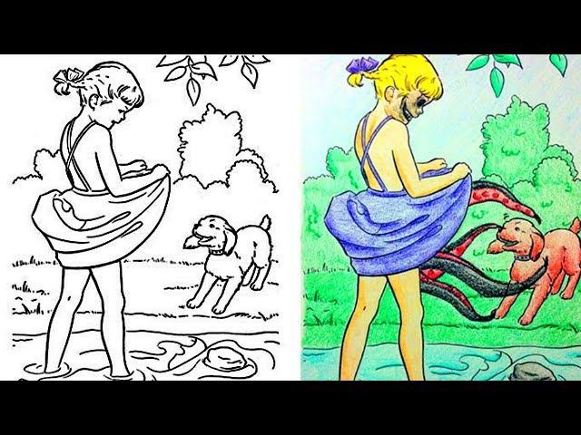 Когда взрослые добрались до раскраски раньше детей