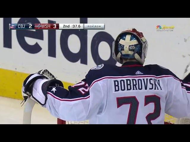 Alex Ovechkins PPG from the dot vs Bobrovski (2017)
