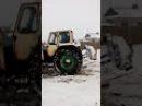 Юмз 6 чистит снег и навоз