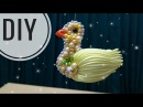 DIY Cara membuat bros bebek ayam Tutorial kanzashi bros unik Lucu