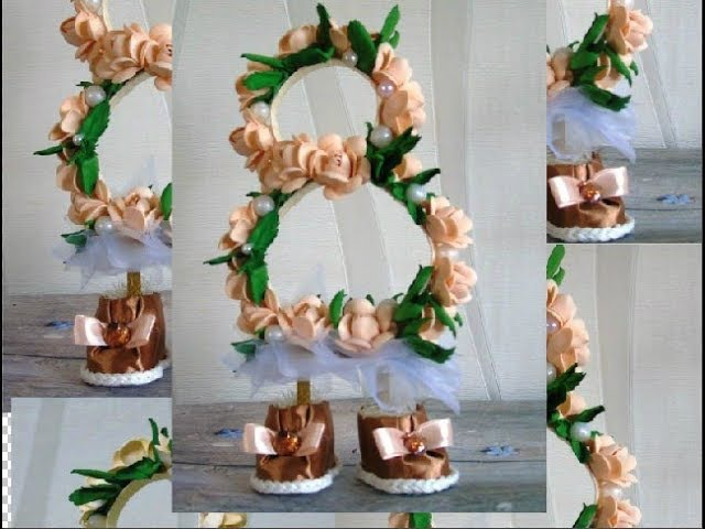 Восьмерка-топотушка с цветами из фоамирана