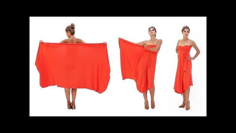 Платье с открытыми плечами платье трансформер Лунги