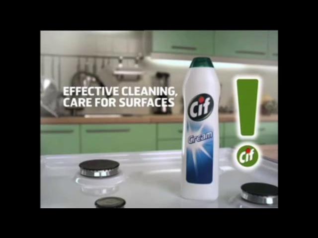 реклама Cif cream на английском