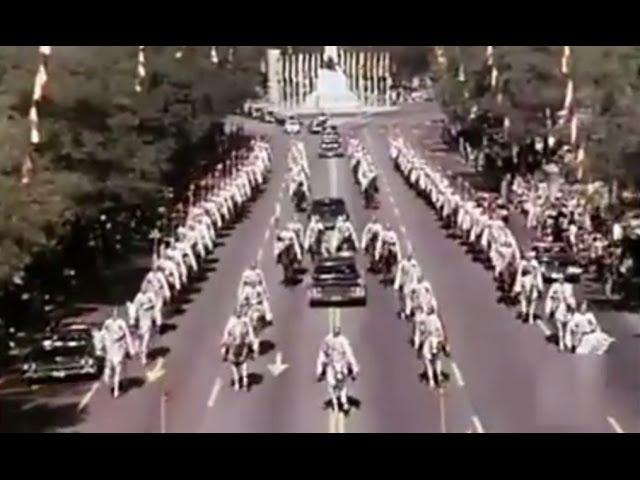 1970 Richard Nixon en Madrid recibimiento multitudinario. US President Richard Nixon in Spain