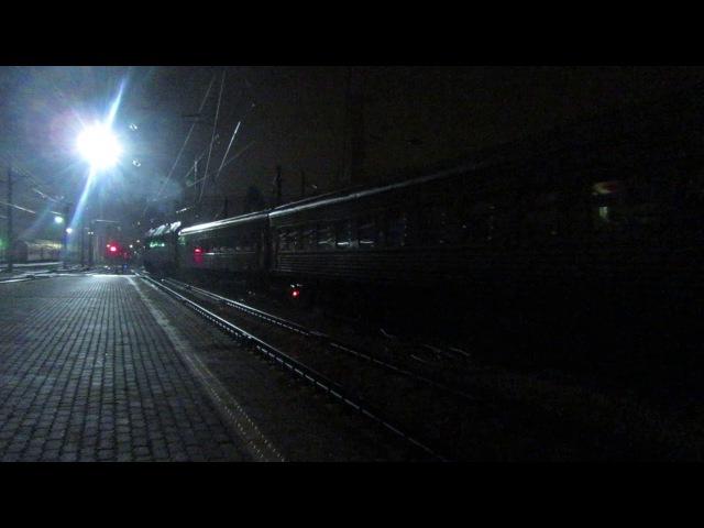 Отправление ТЭП70БС-211 с поездом№468С Адлер-Смоленск со станции Воронеж-1 29-30.08.2017