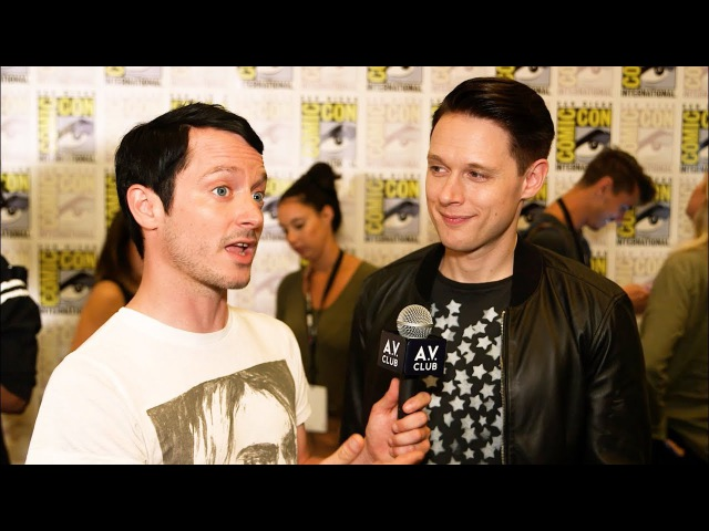Elijah Wood and his Dirk Gently co-stars don't buy any of that psychic mumbo jumbo