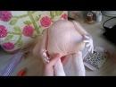 Пуговичное крепление рук. Button assemblance. Сборка текстильной куклы (по Джилл Маас/Jill Maas)