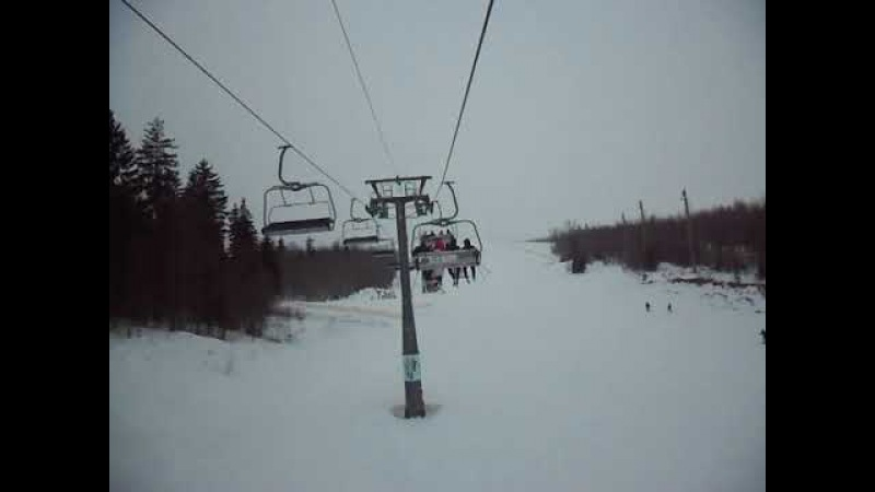Горнолыжный подъемник - Логойск Беларусь (Ski lift - Logoisk Belarus)