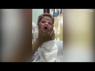 Shocking video:  Nurses filmed themselves squashing a newborn baby's face in Saudi Arabia