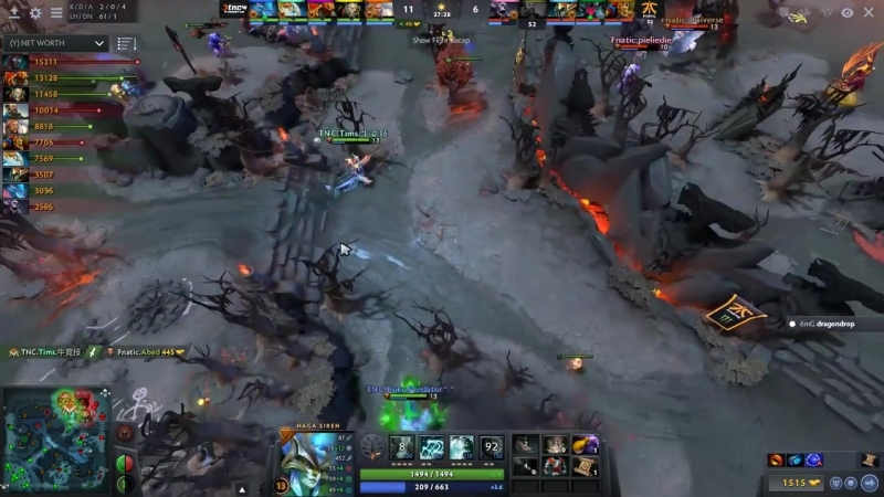 Dotatvru Surprize Megacreeps BASE RACE Fnatic vs TnC