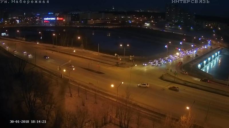Жесткая авария. Челябинск (31.01.18)