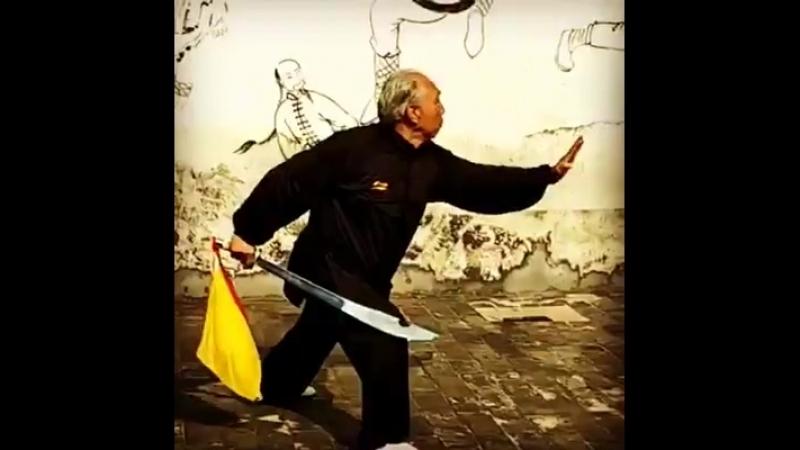 Мастер багуачжан Чжан Сыгуй демонстрирует комплекс хунъюаньдао