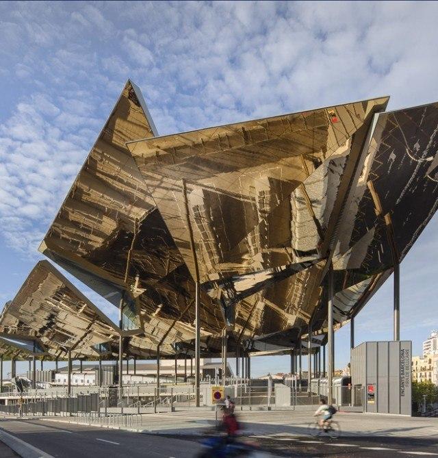 Sculptural Metallic Leaves in Barcelona / b720 Arquitectos firm