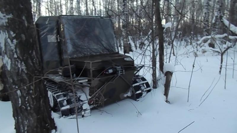 Вездеход Сибиряк Зимний лес