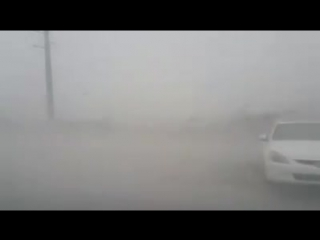 Сильнейшие порывы ветра в городе Ки-Уэст, штат Флорида, США. (10.09.2017)
