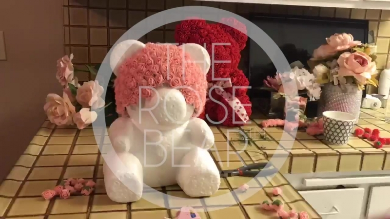 The Rose Bear Мишки из роз изготовление