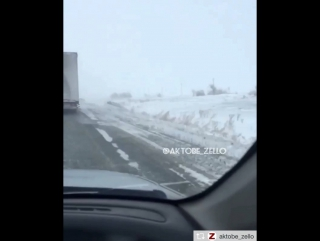 Трасса Актобе Хромтау 27.12.2017