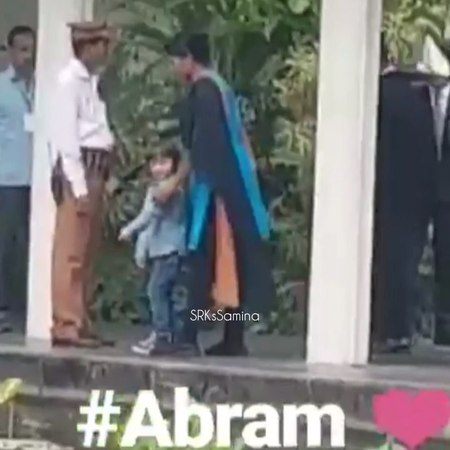 "ShahRukh ❤️ AbRam on Instagram: ""Baby boy in Kolkata a week back (08/04) look how naughty he is, not listening to the nanny 🙈 I can feel the nanny'..."