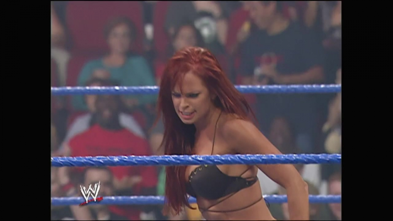 WWE No Mercy 2005 - Christy Hemme Road Warrior Heidenreich vs MNM
