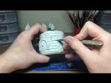 DIY DAS Paper Clay Brick Fairy HouseHut Lantern Night Light House Craft Idea