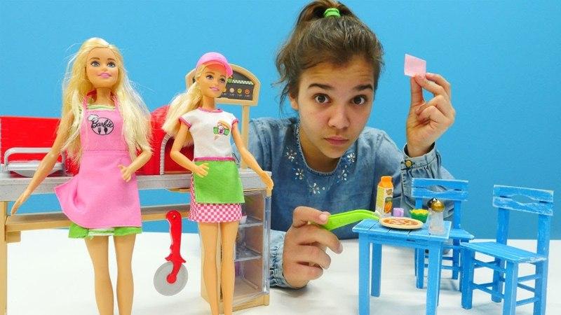 Barbie oyunu. Pizzacıya müfettiş geldi! Kız oyuncakları