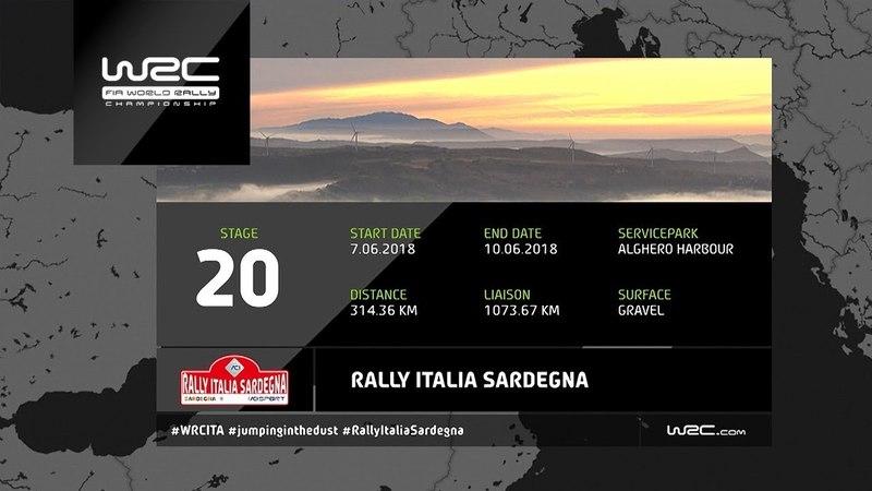 WRC Rally Italia Sardegna 2018 The 20 Stages