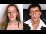 TONY MONTANA ( Scarface ) make-up TRANSFORMATION !