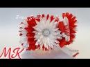 МК Резинка на гульку, пучок Цветы из узких лент, канзаши./ DIY Kanzashi on the bun - beam