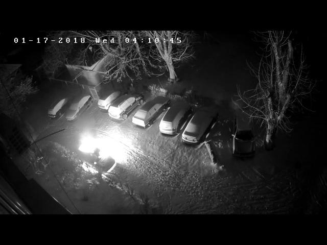 м.Ужгород 17.01.18 підпал авто о 4 годині ранку