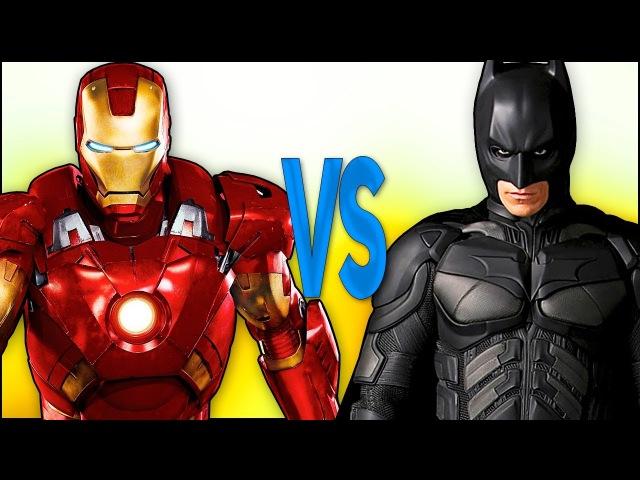 БЭТМЕН VS ЖЕЛЕЗНЫЙ ЧЕЛОВЕК | СУПЕР РЭП БИТВА | Batman justice league ПРОТИВ Iron Man avengers movie