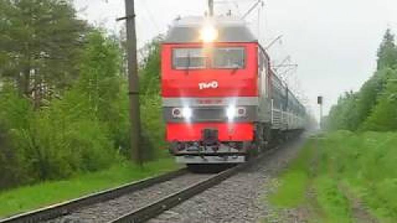 ТЭП70БС-299 (ТЧ-14 Окт, РЖД) с поездом №49 СПб - Брест (БЧ)