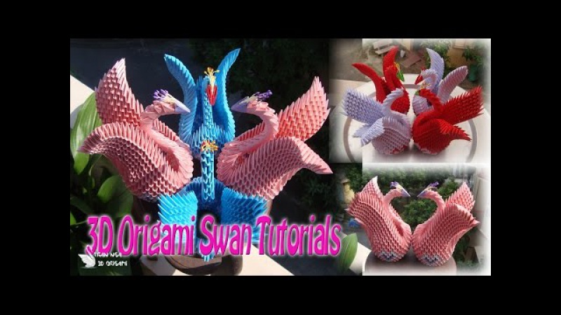 How To Make 3D Origami Swan For beginner | DIY Paper Swan Tutorials