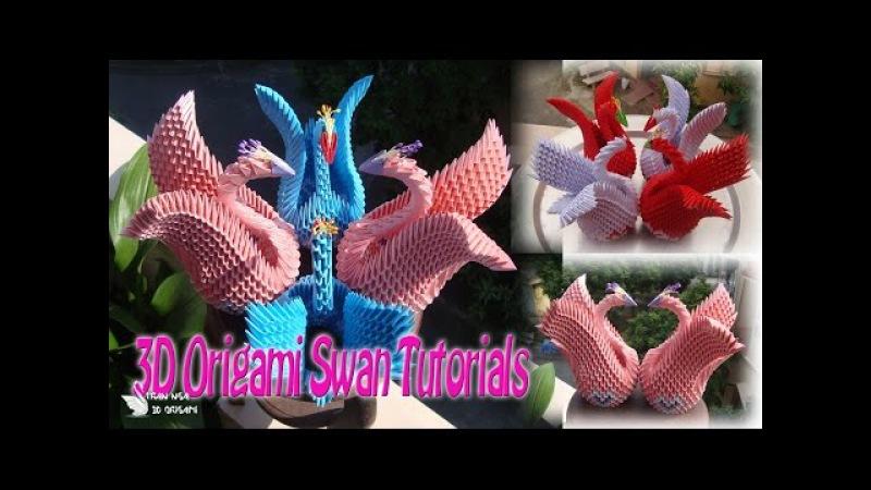 How To Make 3D Origami Swan For beginner   DIY Paper Swan Tutorials