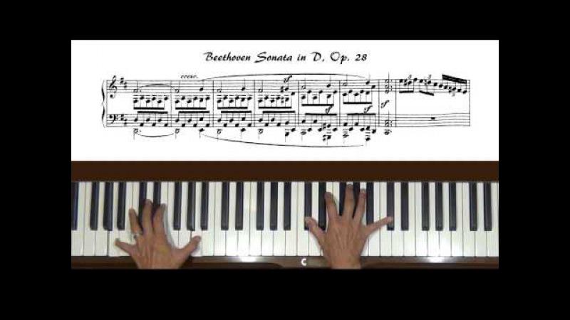 Beethoven Piano Sonata No. 15, Op. 28 Allegro mvt Tutorial Part 1