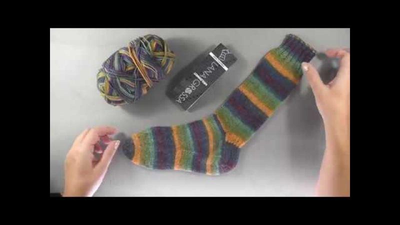 Носки спицами с анатомическим клином и трикотажным швом