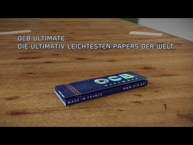 OCB Ultimate, the thinnest paper in the world !