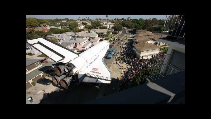 Space shuttle Endeavour's trek across LA: Timelapse