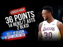 Julius Randle Career-HiGH 36 Pts 2018.03.11 LA Lakers vs Cavs - 36 -14-7-2 Blks!   FreeDawkins