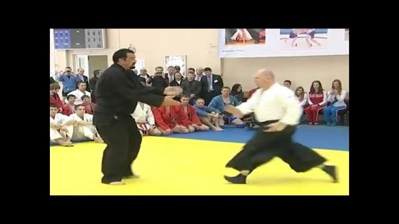 WATCH Steven Seagal shows very effective Aikido and WT moves in Russian seminary