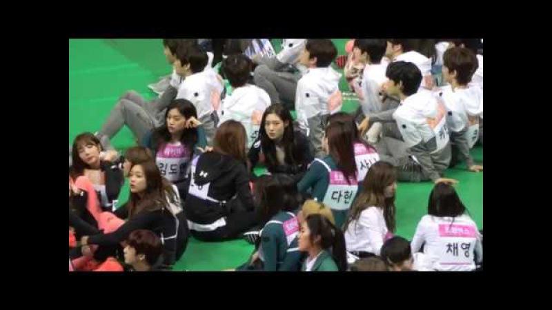 18015 아육대 아이오아이 X 트와이스 친목 영상(정채연 포커스)