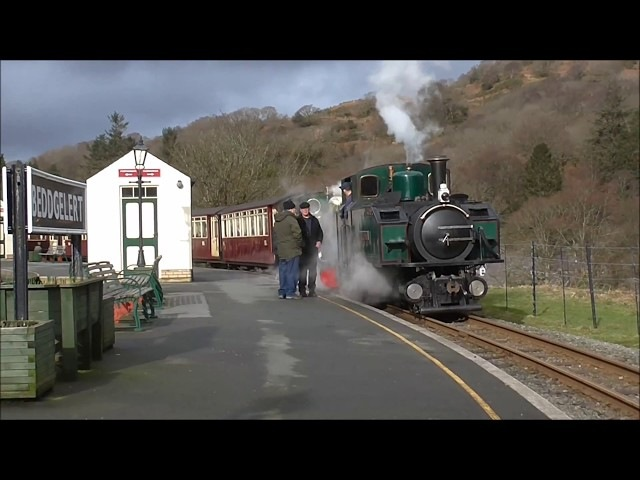 Welsh Highland Railway 11 02 2018 Linda EofM at Beddgelert