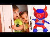 BAD BABY &amp Dance ROBOT Johny Johny Yes Papa Nursery Rhymes Song for children Funny kids video, toys
