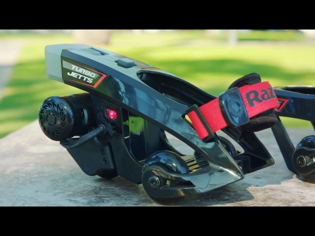 Первые в мире электроролики на обувь - RAZOR Turbo Jetts