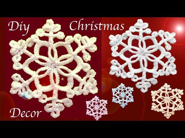 Como tejer a Crochet copos de nieve para Navidad / Diy snowflakes