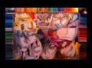 Drawing Male Shounen Characters Naruto HxH FMA Bleach Gintama OP Code Geass FT speed drawing video