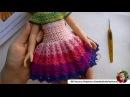 Платье Капучино с Ванилью вяжем юбку ч 2