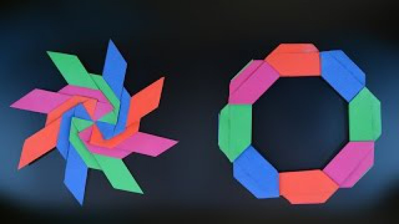 Origami: Frisbee Shuriken ( Jeremy Shafer )